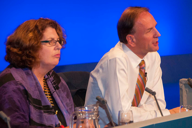 Dr Maureen Baker and Simon Stevens (Photo: Pete Hill)