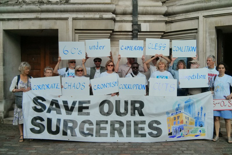 Save our Surgeries protest: petition to government (Photo: Pete Campbell)