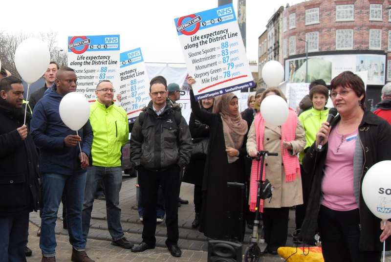 Save Our Surgeries: protesters fear GP funding cuts (Photo: Save Our Surgeries)