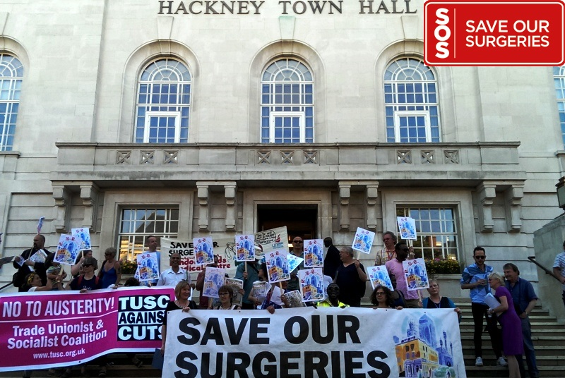 Save our Surgeries: protest wins support of Hackney councillors (Photo: Neil Roberts)