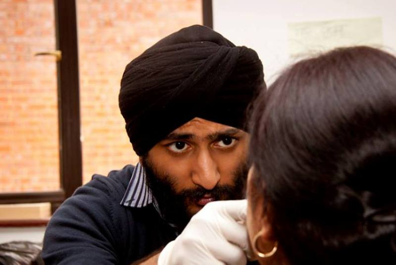 Health check: Sikh doctors have carried out free consultations (Photo: BSDO)