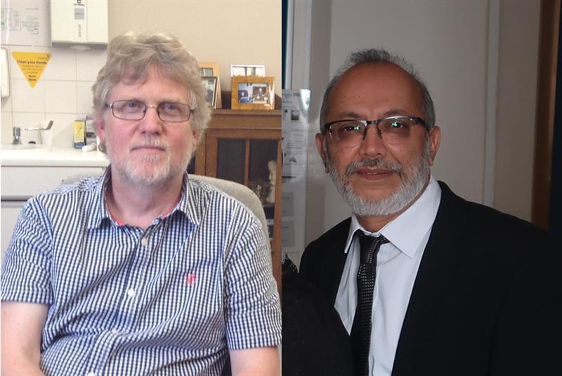 Dr Craig Wakeham (left) and Dr Yusuf Patel (right) (Photos: Dorset CCG/Newham CCG)