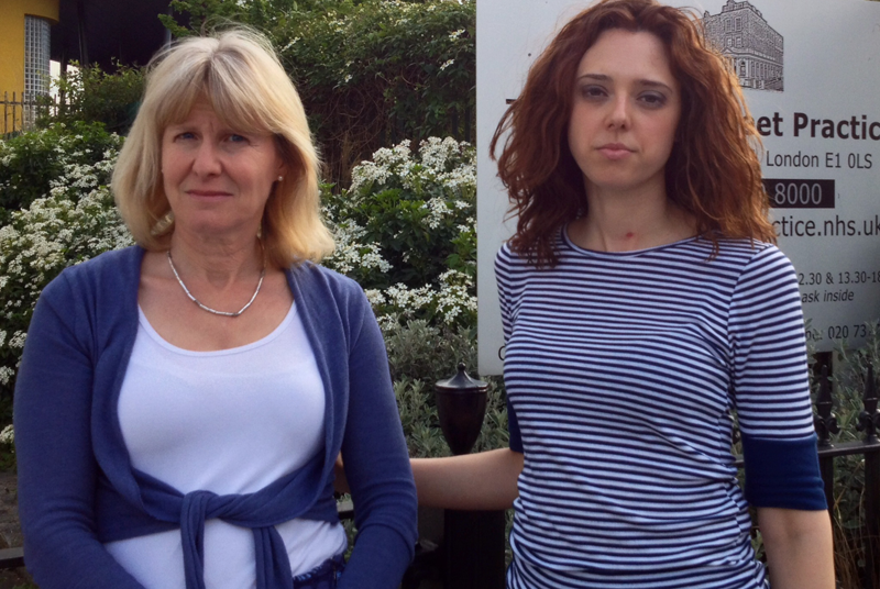Dr Naomi Beer (left) and practice manager Virginia Patania (right): practice faces closure