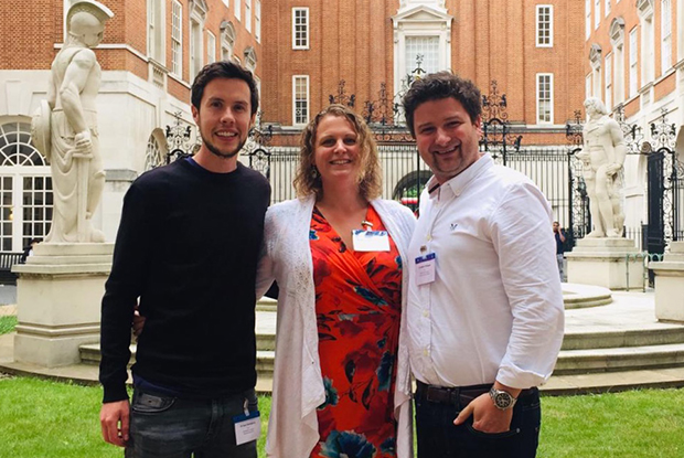 Dr Robert Weaver, clinical director of Mendip PCN (right), pictured with fellow Somerset clinical directors Dr Kelsey Boddington of West Somerset PCN (centre) and Dr Sam Rainsbury of West Mendip PCN (left).