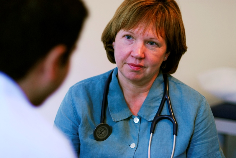 GP consultation: report warns of pressure on the profession (Photo: JH Lancy)