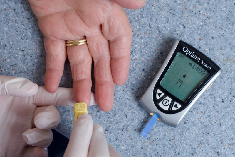 Diabetes test: Pic: Jim Varney