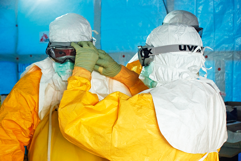 Managing Ebola patients includes stringent infection control procedures (SPL)