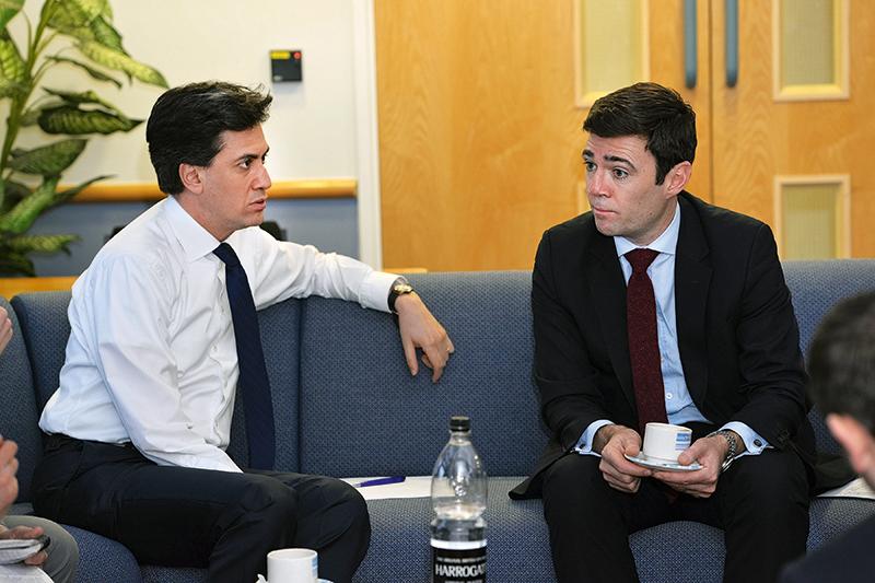 Labour leader Ed Miliband (left) and shadow health secretary Andy Burnham (Phil Hill, UNP)