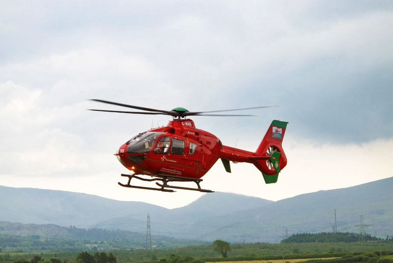 You have to make decisions, sometimes difficult ones, such as whether to call an air ambulance (SPL)
