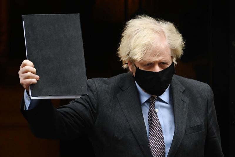 Boris Johnson heads to parliament to unveil lockdown easing (Photo: Leon Neal/Getty Images)