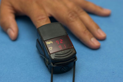 Telehealth devices such as pulse oximeters (above) are being rolled out to millions of patients across England (Photo: iStock)