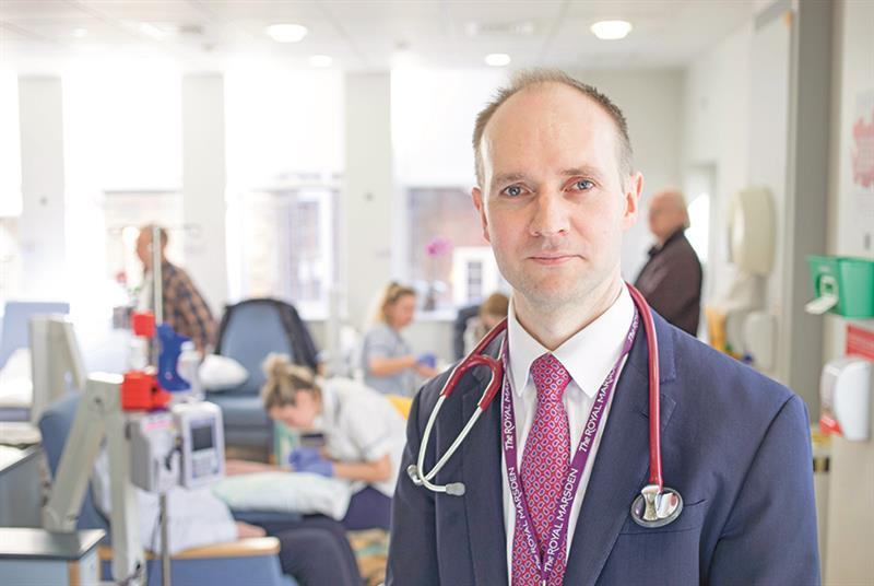 Dr Richard Lee, consultant respiratory physician and champion for early diagnosis at The Royal Marsden