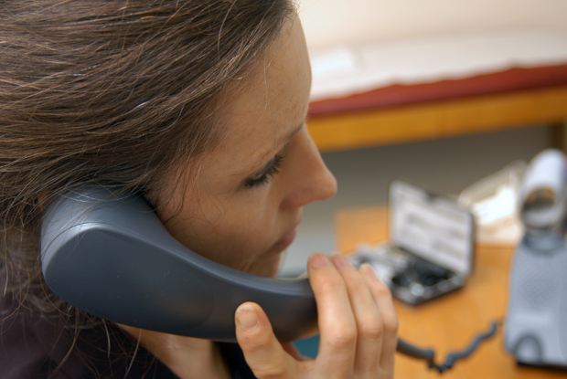 Telephone advice: GPs contact consultants (Photo: JH Lancy)