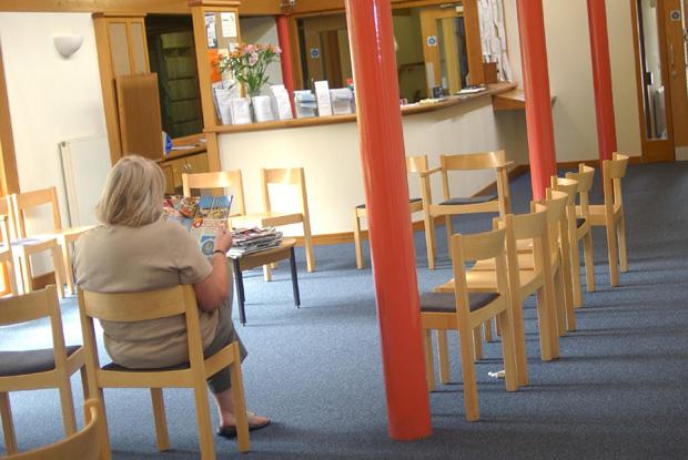 GP waiting room (Photo: Simon Barber)