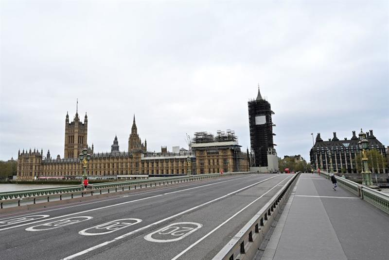 Westminster during lockdown (Photo: Glyn Kirk/AFP/Getty Images)