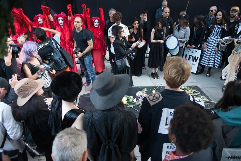 Funeral clouds over London Fashion Week