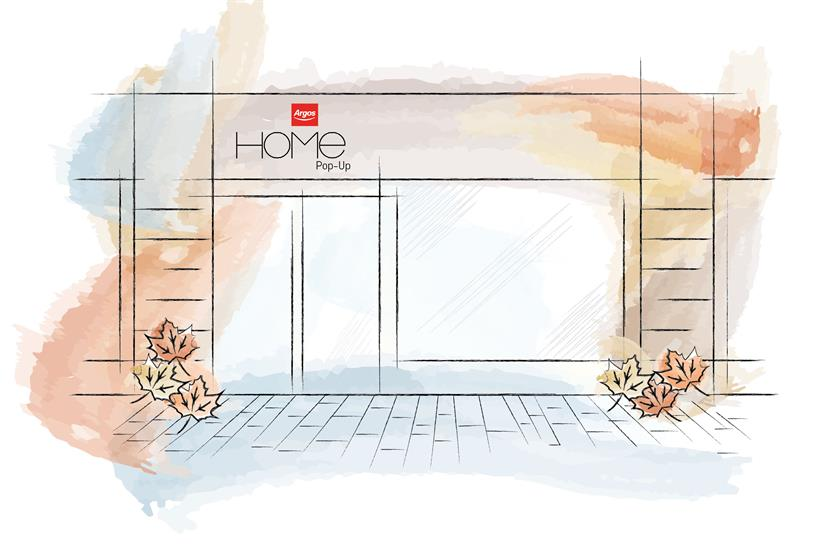 Argos is creating a pop-up with its autumn/winter collection and workshops