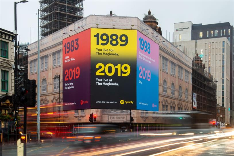 Nostalgic Spotify ads hark back to hits over the decades