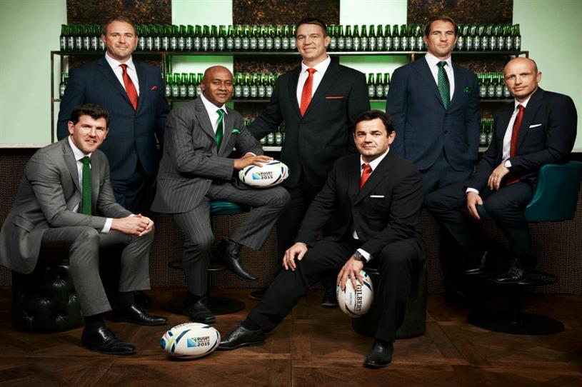 Heineken will be offering fans the chance to have their picture taken with the Webb Ellis Cup