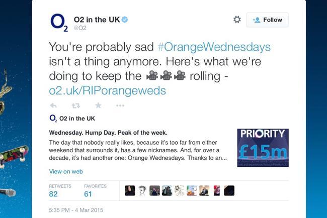 O2: tweets details of an Orange Wednesdays resurrection
