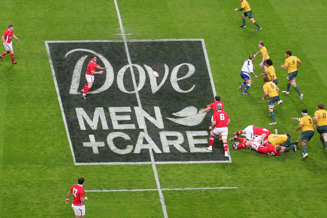 Dove Men+Care: sponsored the Welsh Rugby Union's 2011 summer series of tests