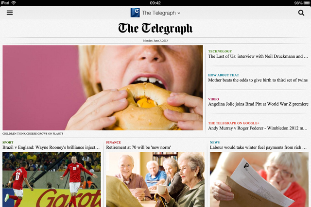 Telegraph: partners Halifax for Google Currents edition