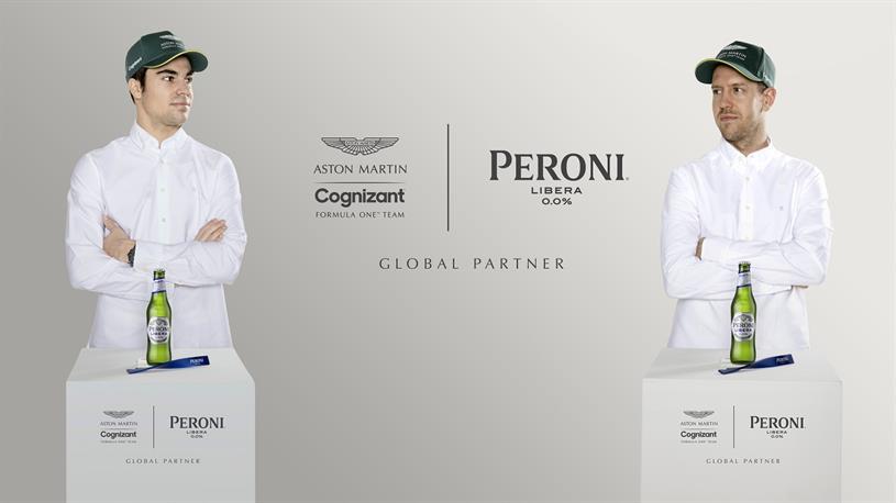Aston Martin Cognizant drivers: Stroll (left) and Vettel