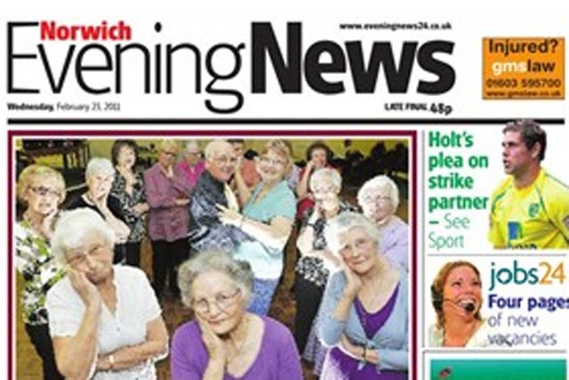 Evening News: Archant Norfolk title's circulation up 2.1% period on period