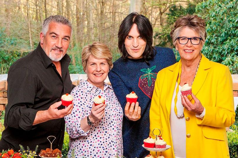 Channel 4's Great British Bake Off presenters: Paul Hollywood, Sandi Toksvig, Niel Fielding and Prue Leith