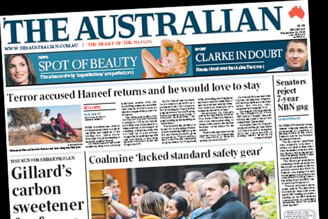 News Corp Australian newspapers to reject Times paywall