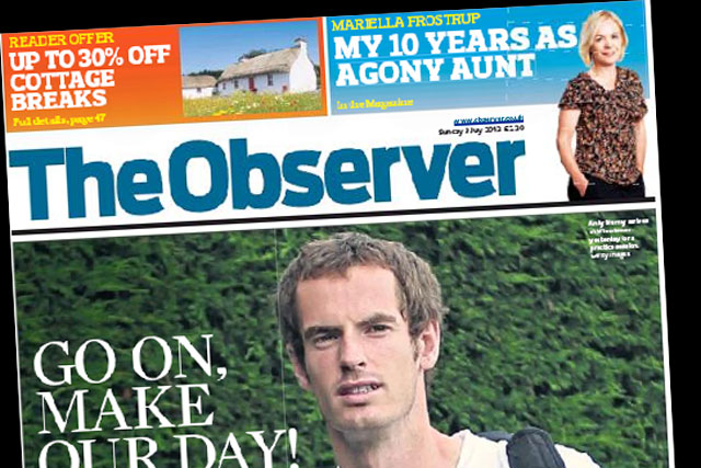 The Observer: circulation fell to below 250,000 in June