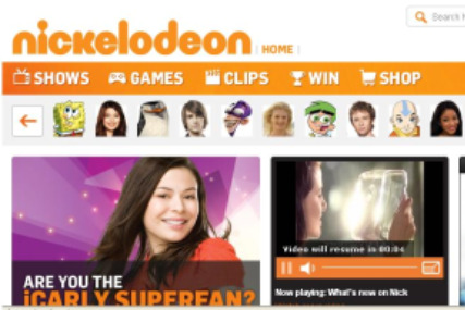 Revamped Nickelodeon website offers more commercial