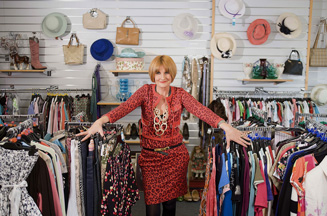 Mary Portas luxury charity shop