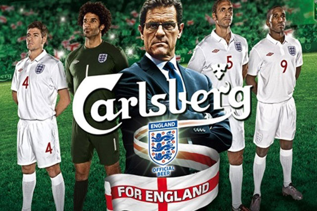 Carlsberg: deal has outlasted seven England managers, including Fabio Capello