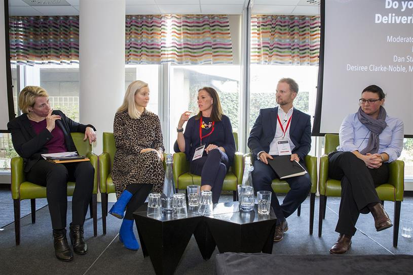 Future Fit: Lisa O'Keefe, Sport England; Campaign's Nicola Kemp; Clarke-Noble; Dan Staples, WiggleCRC; Kirsty Clarke, Stonewall