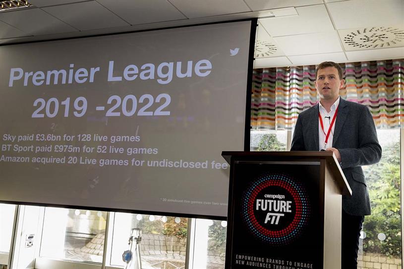 Twitter's Theo Luke speaking at Future Fit