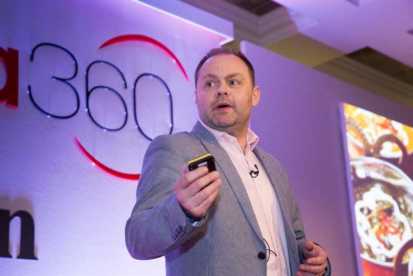 Evans on stage at Campaign's Media360 event last month