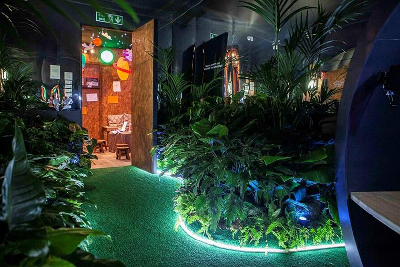 Amazon: pop-up home operated using smart technology