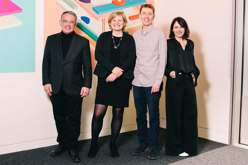Left to right: Asda's Andy Murray; AMV BBDO's Cilla Snowball and Chris Taggart; Asda's Eilidh Macaskill