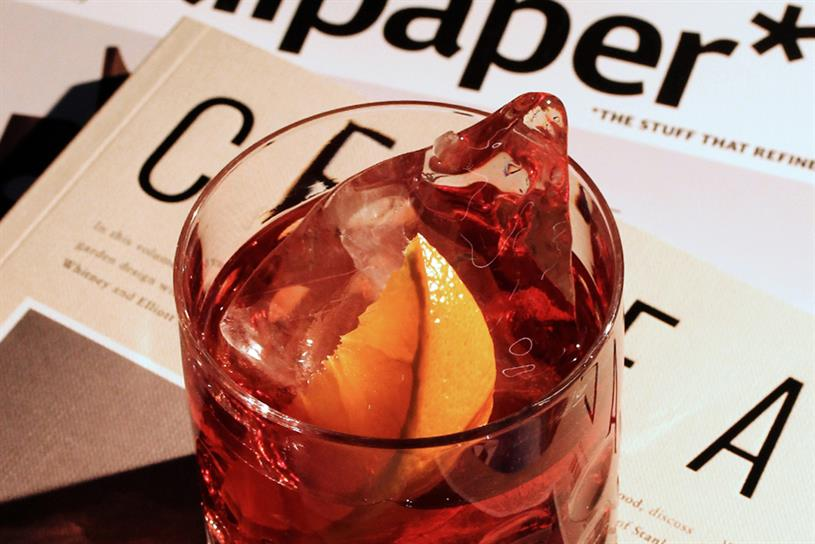 Campari: art inspired by famous cocktail