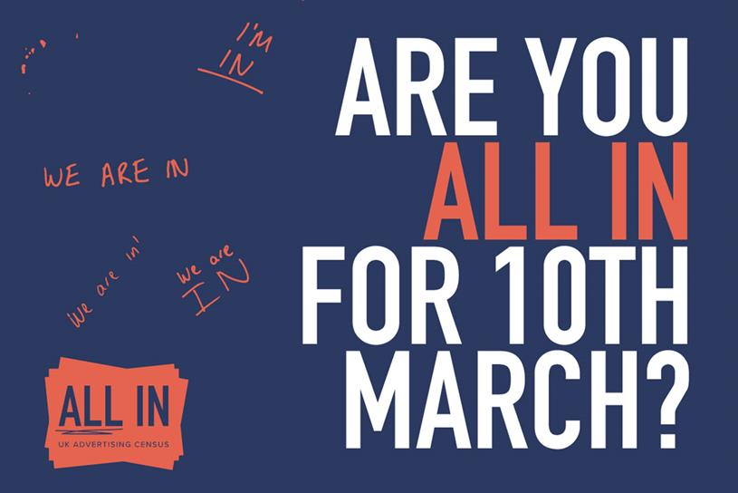 All In: campaign urges industry to participate in census