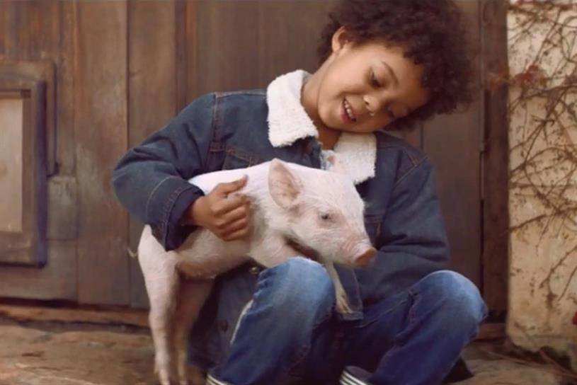 Amazon: latest ad by Joint features a boy and his pet piglet