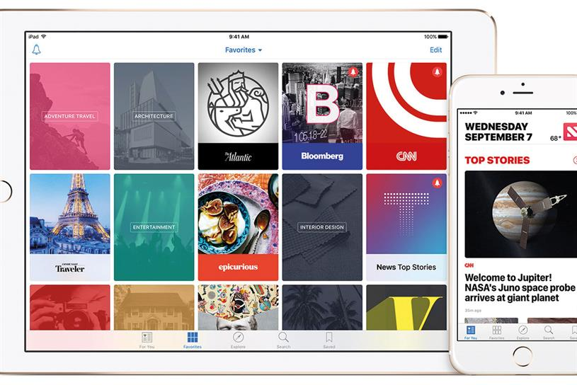 Apple News: pre-installed on iPhones and iPads since last year