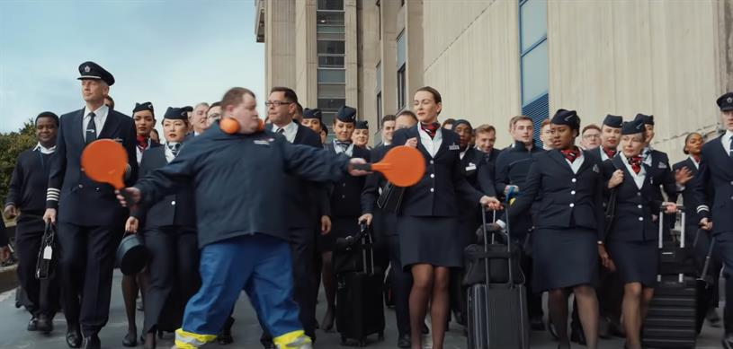 BA: recent campaign by Ogilvy featured crew members with a spring in their step