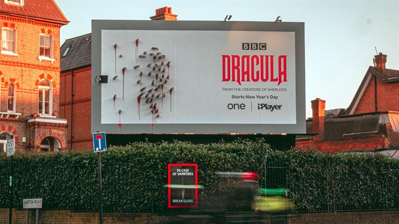 Dracula: billboard promotes TV series