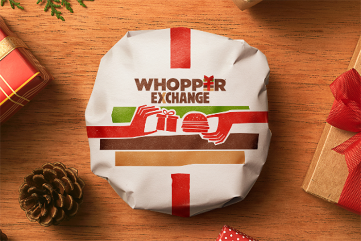 Whopper Exchange: Burger King invited consumers to trade in unwanted Christmas presents for a burger