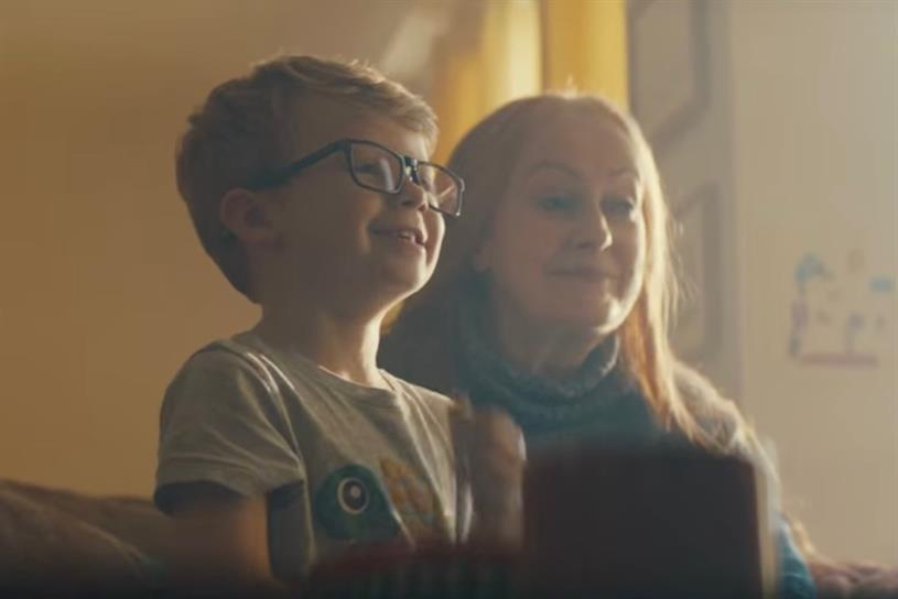 BT ad: Luke and his grandmother sharing a TV moment