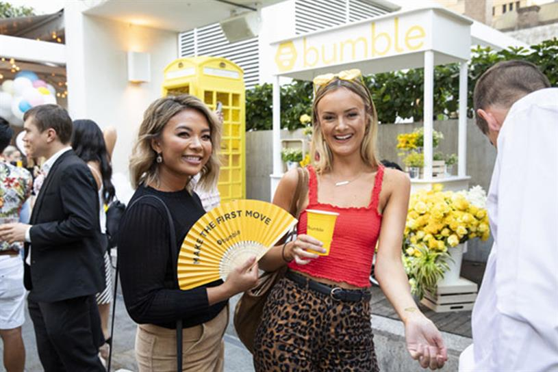 Bumble: tickets can be obtained via the app