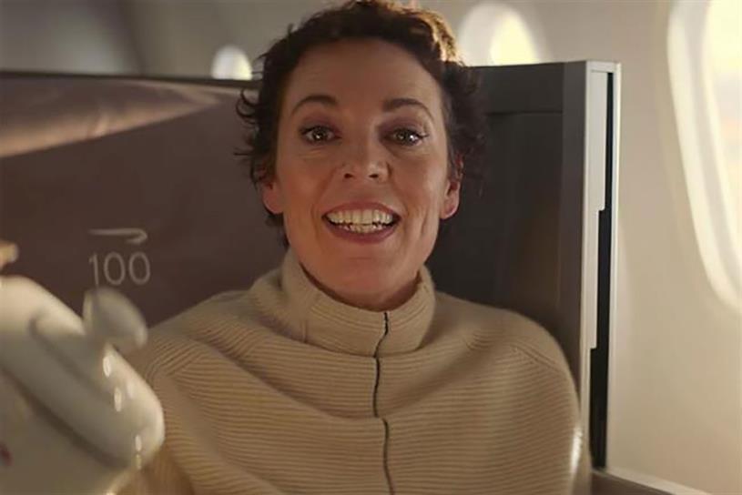 British Airways: Oscar winner Olivia Colman featured in 2019 ad created by Ogilvy