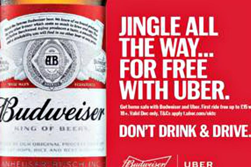 Budweiser and Uber partner for responsible drinking campaign